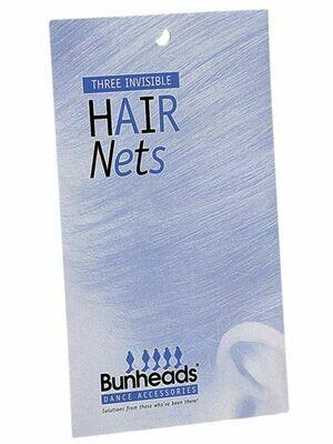 CP BH423 BUNHEADS HAIR NETS DBR - 3PK
