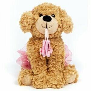 DSHA 6277 DANCE PUPPY WITH BALLET SHOES