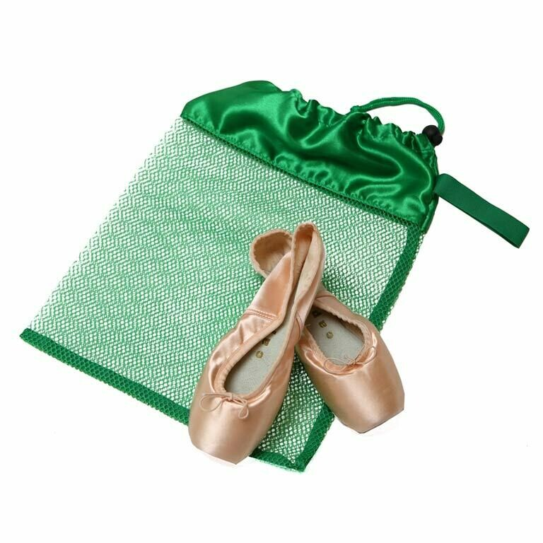 HD 8221 GREEN MESH POINTE SHOE BAG