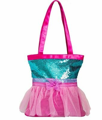 HD 1061 TUTU CUTE TOTE - TEAL/PINK