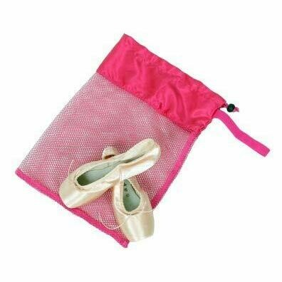 HD 8219 PINK MESH POINTE SHOE BAG