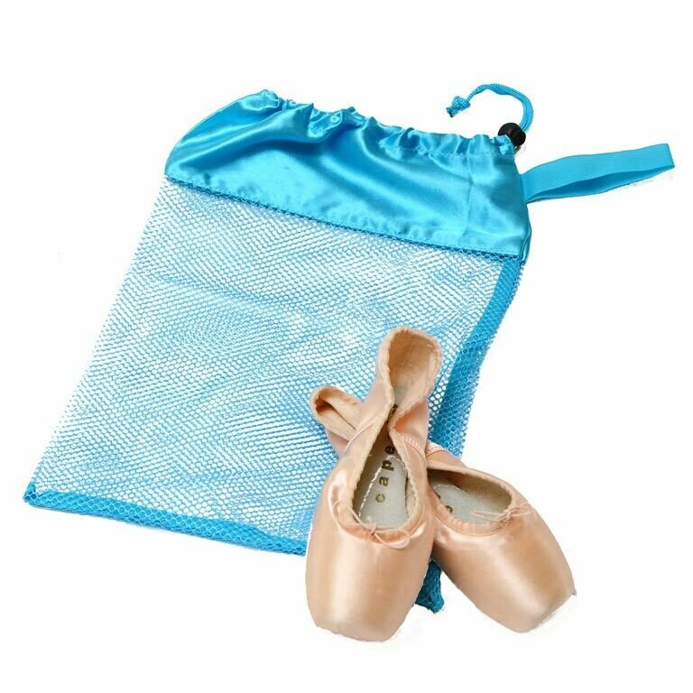 HD H8329 LIGHT BLUE MESH POINTE SHOE BAG