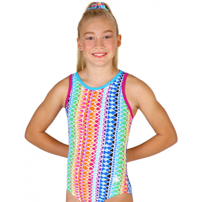 SFD UPBEAT RAINBOW STRAPPY LEOTARD