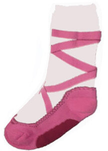 NBG PINK POINTE SLIPPER HEAVY WEIGHT SOXS