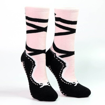 NBG PINK & BLK POINTE SLIPPER HEAVY WEIGHT SOXS