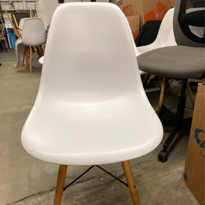 Modern Chair With White Plastic Seat