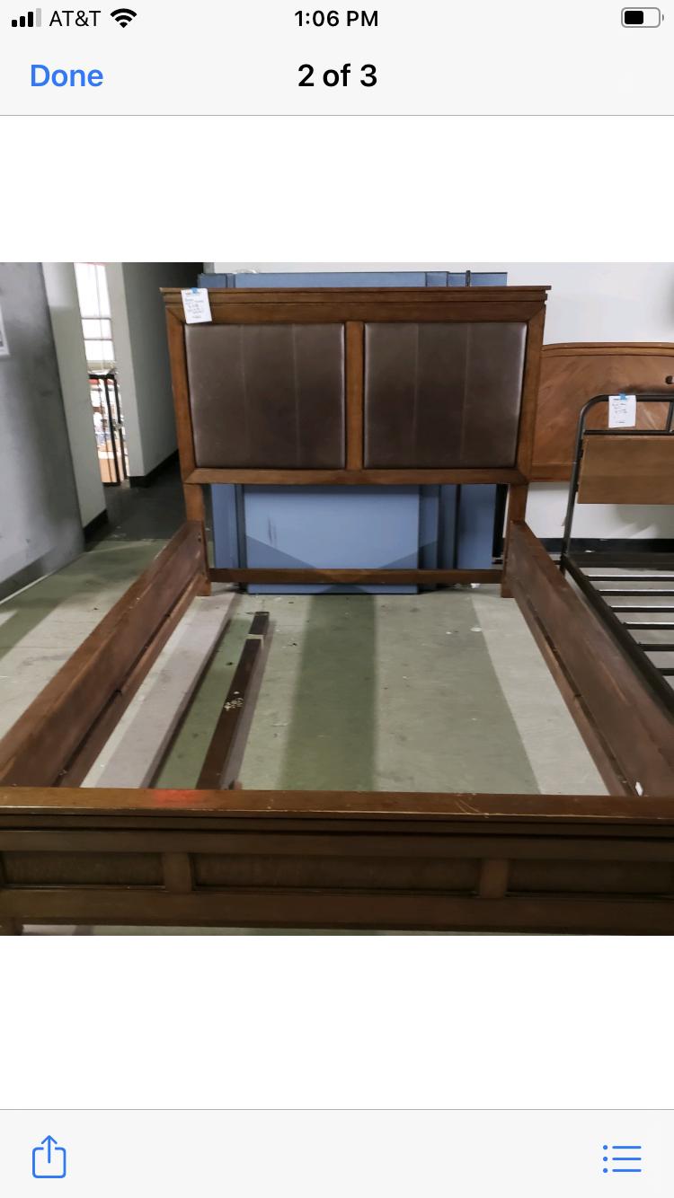 Queen Bed (Wood And Vinyl?)