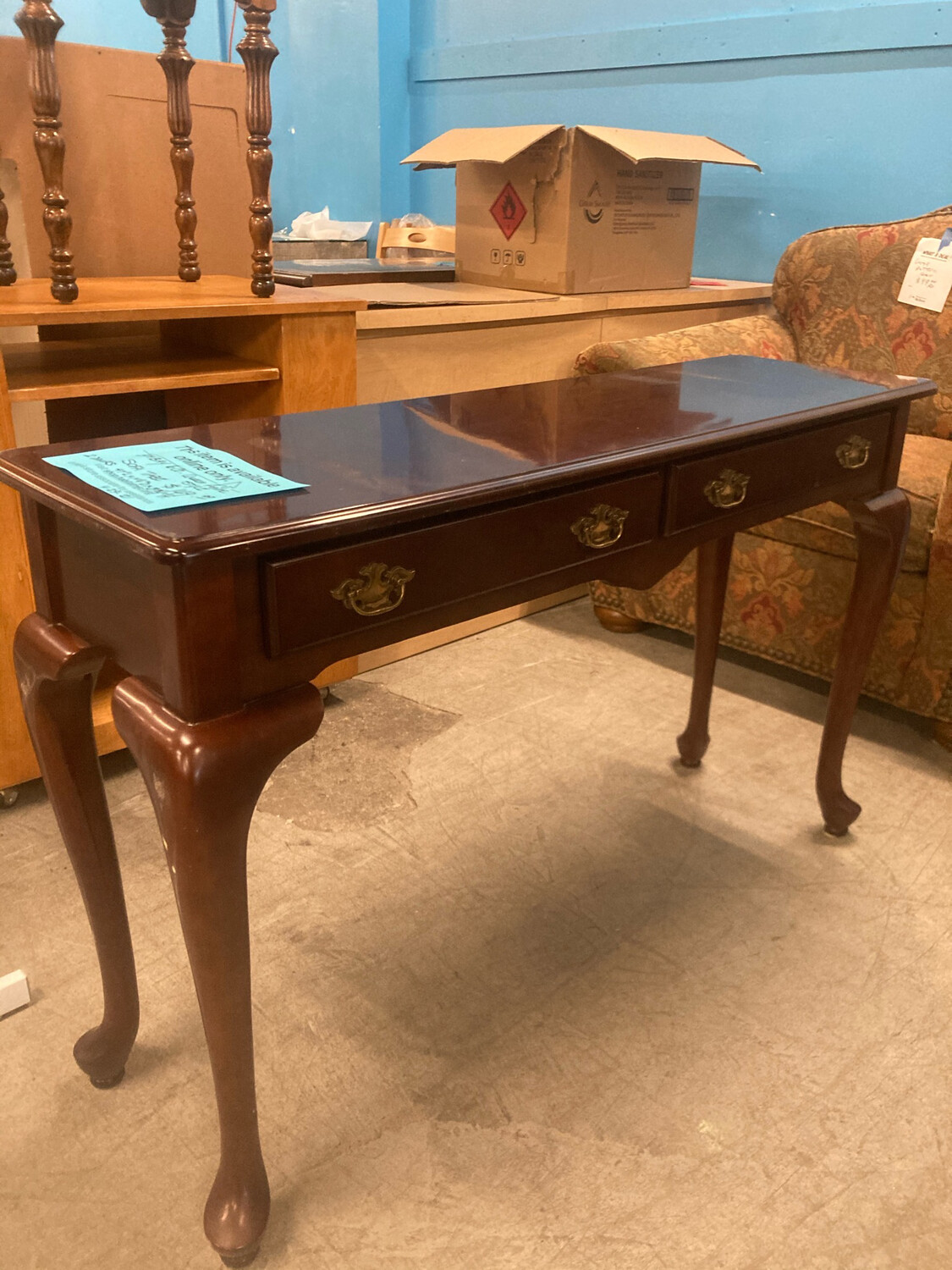 Bombay & Co. Sofa Table Queen Anne Style