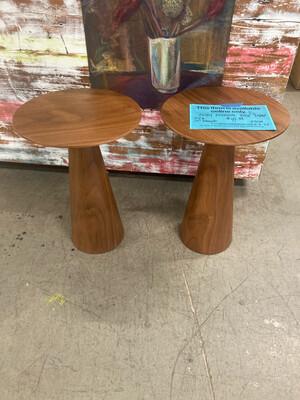 MCM style Wood Pedestal End Table