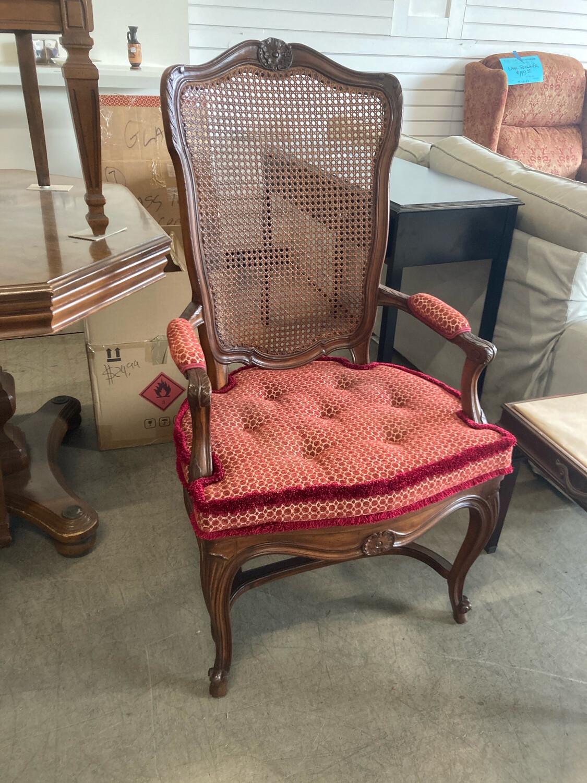 Antique Louis XV Style , Double Cane, Custom Cushion