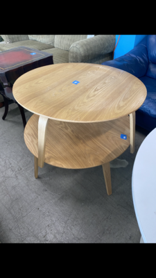 Round Wood Coffee Table