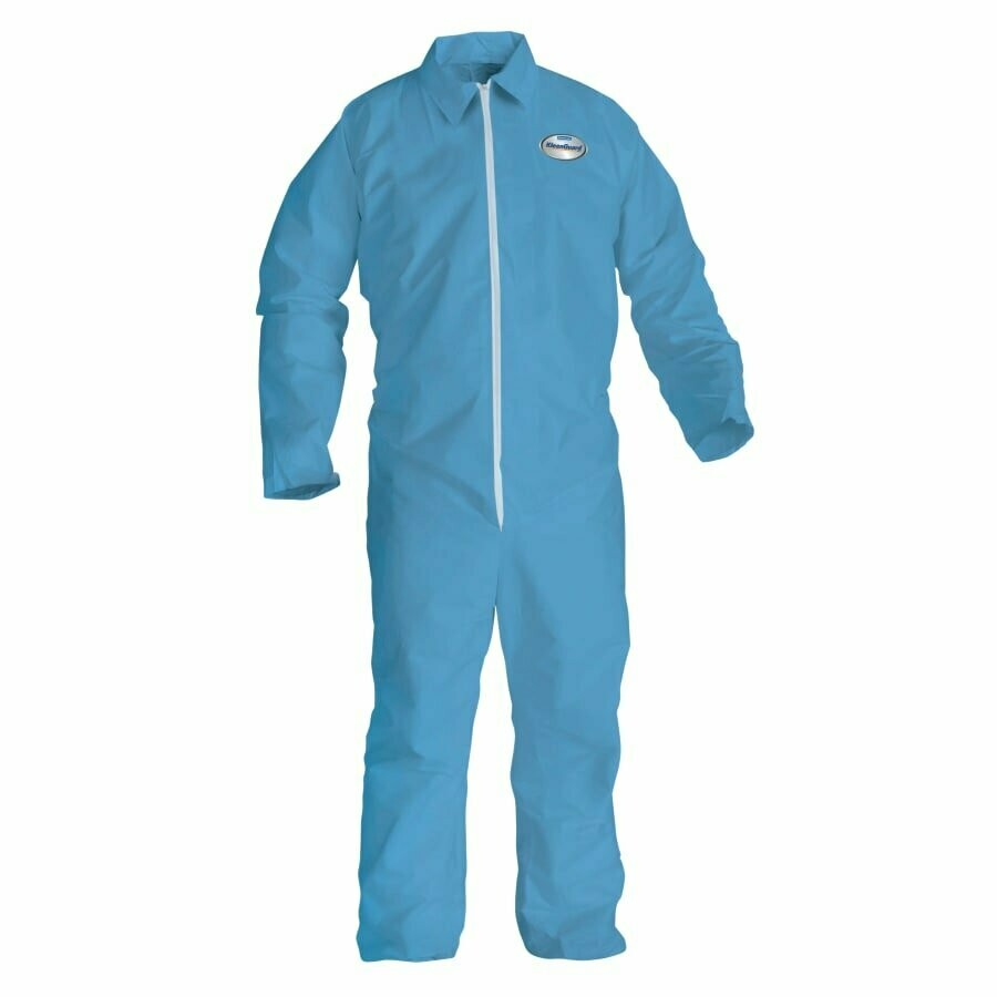 KLEENGUARD A65 Flame Resistant Coveralls, Blue, X-Large, Zipper Front (25/BOX)