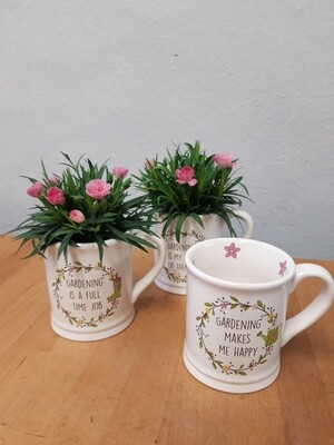 Floral planted Mug