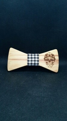 Wood tie bow
