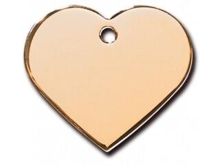 Corazón grande Dorado (PLU 1544)