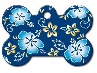 Hueso Azul Hawaii con Flores (PLU 157)