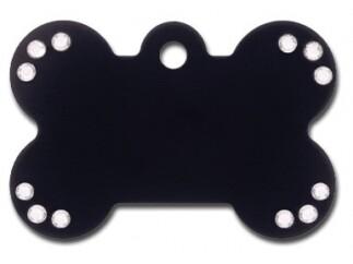 Hueso grande Negro Diva con Piedras transparentes (PLU 2237)