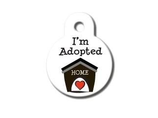 """Círculo pequeño blanco """"Soy Adoptado"""" (PLU 2742)"""