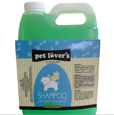 Shampoo Sábila Pet Lovers 1 gl