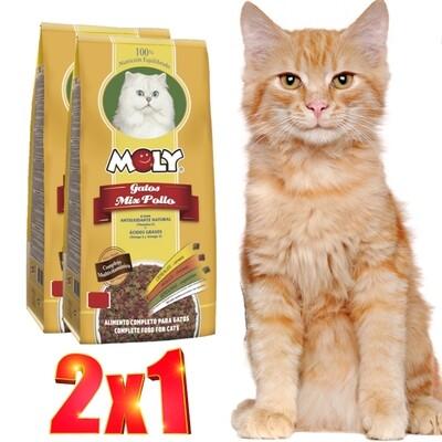 Moly Mix Pollo para gatos 1.5 kg.