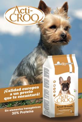 Acti-Croq Small Breeds 2 kilos + 1 lata de Moly Pollo y tocino