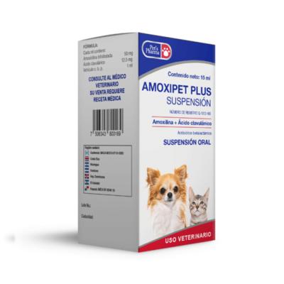 Amoxipet Plus Suspensión (15 ml)