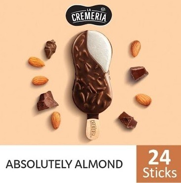 LA CREMERIA Absolutely Almond Stick Ice Cream (24 Sticks)