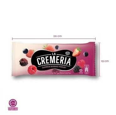 LA CREMERIA Summer Berries Yogurt Stick Ice Cream (10 Sticks)