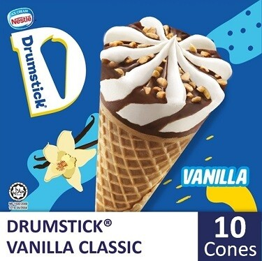 NESTLÉ Drumstick Vanilla Ice Cream Cone (10 Cones)
