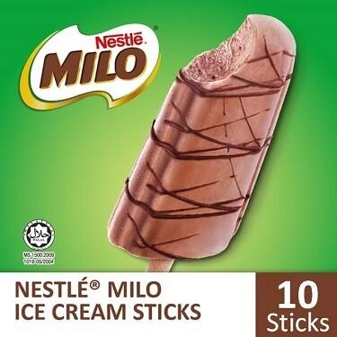 NESTLÉ MILO Stick Ice Cream (10 Sticks)