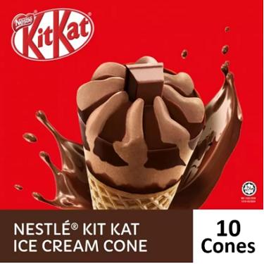 NESTLÉ KITKAT Ice Cream Cone (10 Cones)
