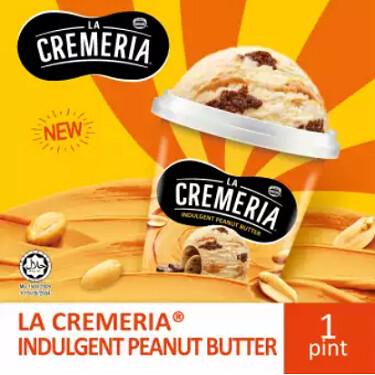 LA CREMERIA Peanut Butter Ice Cream (1 Pint, 750ml )