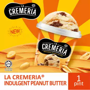 LA CREMERIA Peanut Butter Ice Cream (1 Pint, 750ml )