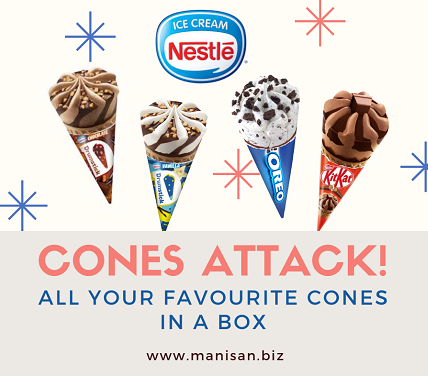 Cones Attack - 4 Flavours in a box (20pcs)