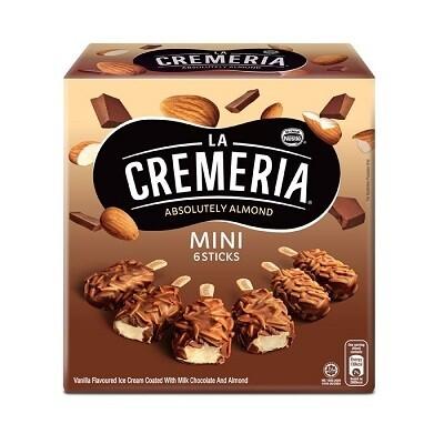 Nestlé La Cremeria Mini Almond Vanilla Ice Cream (6pcs x 45ml)