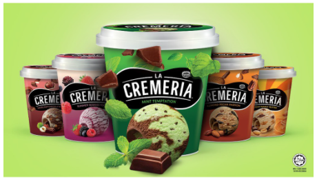 LA CREMERIA Mint Temptation Ice Cream (1 Pint, 750ml)