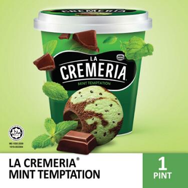 LA CREMERIA Mint Temptation Ice Cream (1 Pint, 750ml) 12400487