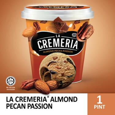 LA CREMERIA Almond Pecan Passion Ice Cream (1 Pint, 750ml)