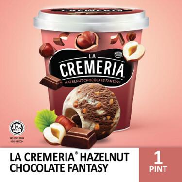 LA CREMERIA Hazelnut Chocolate Fantasy Ice Cream (1 Pint, 750ml)