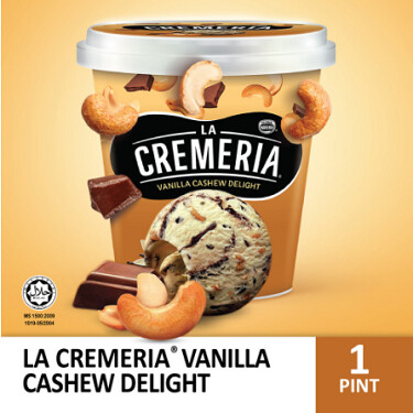 LA CREMERIA Vanilla Cashew Delight Ice Cream(1 Pint, 750ml)