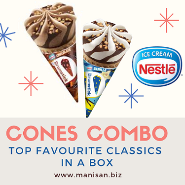 Cones Combo - Drumstick Vanilla & Chocolate (20pcs)