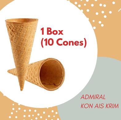 Sugar Cones (10pcs)  / Admiral Kon Ais Krim
