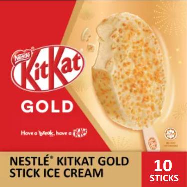NESTLÉ KITKAT GOLD Stick Ice Cream  (10 Sticks)