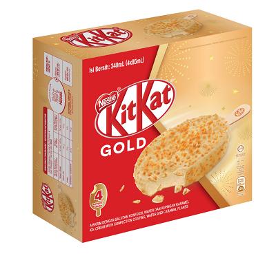 Nestlé KITKAT GOLD Ice Cream Stick Multipack (4pcs x 85ml)