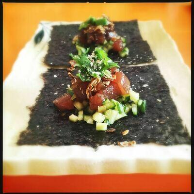 Tuna Sashimi Tacos
