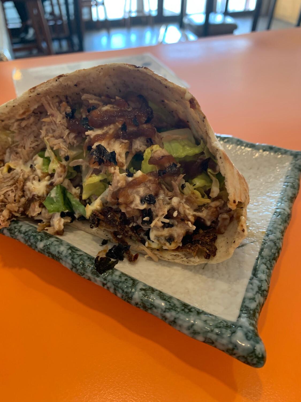 Pork Rib Pita Sandwich