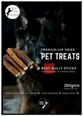 Premium Beef Bully Sticks- 10 Pack Med to Large dogs