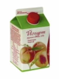 """Йогурт питьевой """"Вологодский"""" фруктово-ягодный (белый персик) 1% 0.5 л."""