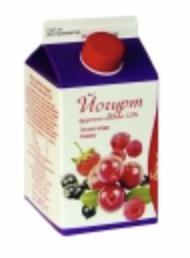 """Йогурт питьевой """"Вологодский"""" фруктово-ягодный (лесные ягоды-клюква) 1% 0.5 л."""