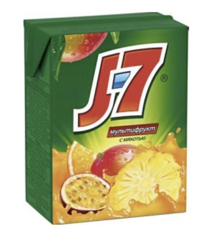 """Сок J7 """"Мультифрукт"""" 0.2  л."""